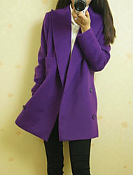 cheap -Women's Elegant & Luxurious Coat-Solid Colored,Classic Style