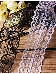 DIY 4.5cm Width Flower Weaving Border Craft Lace Ribbon (2 Yards)