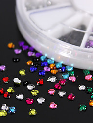 600PCS Colorful Peach-shaped Flatback Acrylic Gems Handmade DIY Craft Material/Clothing Accessories
