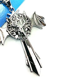 cheap -Jewelry Inspired by Final Fantasy Cosplay Anime/ Video Games Cosplay Accessories Necklace Silver Alloy Male