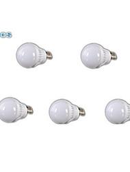 E26/E27 LED-globepærer A60(A19) 18 leds SMD 2835 Kold hvid 400-500lm 6000-6500K Vekselstrøm 110-130V