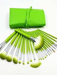 24pcs frischen grünen professionelle hochwertige Make-up-Pinsel-Set