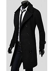 Недорогие -большой моде мужская двойная кнопка твид пальто