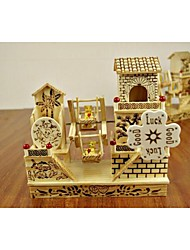 Недорогие -деревянная вилла дизайн мельница музыкальные шкатулки