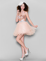 abordables -Robe de bal sweetheart short / mini tulle sequined robe de bal par ts couture®