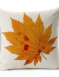 Autumn Leaf Cotton/Linen Decorative Pillow Cover