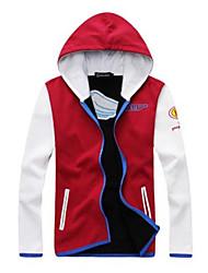 Недорогие -мужская мода случайные контраст цвета сплайсинга толстовки (капот шпагатом)