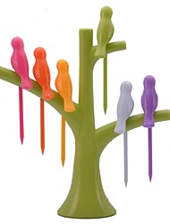 neje oiseau sur la forme de l'arbre porte des fruits birdie de fourche ensemble
