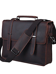 Men's Leather Retro Business Laptop Bag
