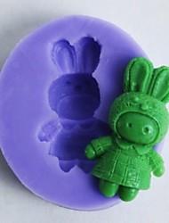 um coelhos buracos fondant em forma de molde bolo de chocolate