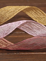 cheap -Gorgeous Mosaic Gold Fold Organza Ribbon(More Color) Wedding Reception
