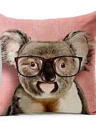 guaxinim em algodão óculos / linho fronha decorativo