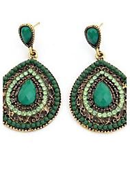 cheap -Masoo Women's Fashion Popular Gem Water Drop Earrings