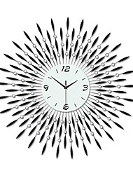 baratos -tamanho grande e moderna ferro rodada relógio de parede