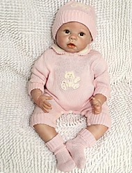"cheap -Reborn Doll 22"" Silicone Vinyl Newborn lifelike Handmade Child Safe Non Toxic Gift"