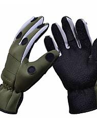 economico -Trulinoya impermeabile antiscivolo traspirante guanti pesca dell'esercito colore verde
