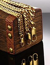 abordables -Hombre Cadenas y esclavas - Chapado en Oro Diseño Único, Moda Pulseras y Brazaletes Dorado Para Regalos de Navidad / Boda / Fiesta
