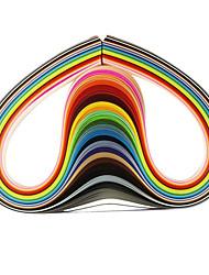 Недорогие -120pcs 3mmx53cm рюш бумагу (24 цвета x5 шт / цвет) DIY Craft художественное оформление