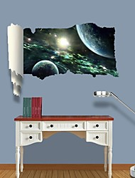 cheap -3D Wall Stickers Wall Decals, Universe Planet Decor Vinyl Wall Stickers