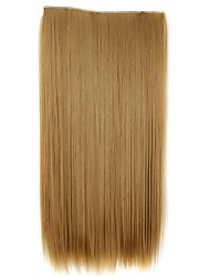 cheap -24 Inch 120g Long Synthetic Straight Clip In Hair Extensions with 5 Clips Hair Piece