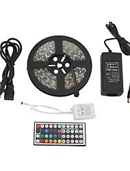 abordables -ZDM® 5 m Sets de Luces 300 LED 1 adaptador de 12V 6A Controlador remoto de 1 44 teclas 1 cable de CA RGB Cortable Impermeable
