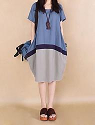 billige -kvinders store hit farve mosaik bomuld kode kjoler