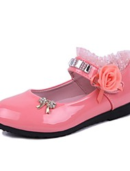preiswerte -Girls' Shoes Mary Jane Round Toe  Flat Heel  Flats with Satin Flower More Colors available