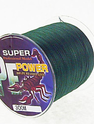 cheap -300M / 330 Yards PE Braided Line / Dyneema / Superline Fishing Line Dark Green 28LB / 18LB / 10LB / 15LB / 12LB / 22LB