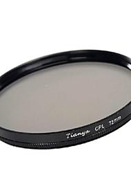 Tianya 72 milímetros cpl filtro polarizador circular para canon 15-85 18-200 17-50 lente 28-135mm