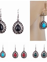 cheap -Drop Earrings Imitation Pearl Resin Rhinestone Simulated Diamond Alloy Drop Black Red Green Blue Jewelry Wedding Party Daily Casual Sports