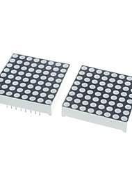 preiswerte -3mm rot positive LED Dot-Matrix-Display (2 Stück)