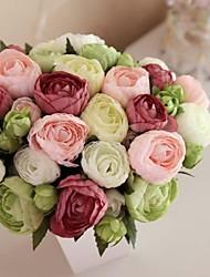 billige -Kunstige blomster 1 Afdeling Blomst Roser Bordblomst