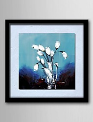 cheap -Oil Painting Modern Abstract Flower Hand Painted Natural Linen Solid Wood Frame Frameles Paintings