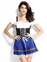 Fête d'Octobre/Bière Costumes de Cosplay Costume de Soirée Féminin Halloween Fête d'Octobre Fête / Célébration Déguisement d'Halloween