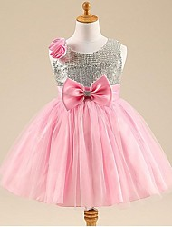 cheap -Princess Knee Length Flower Girl Dress - Tulle Sleeveless Scoop Neckby Hua Cheng fashion