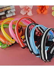 Dog Collar LED Lights Waterproof Nylon Yellow Red Green Blue Pink