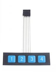 Недорогие -1x4 кнопку на панели управления матрицей мембранный переключатель клавиатуры Клавиатура тонкий