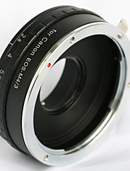Build in Aperture Canon EOS EF Lens for Olympus Panasonica Micro M 43 M43 Adapter