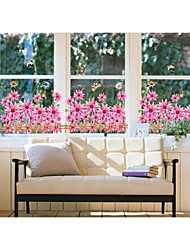 cheap -Wall Stickers Wall Decals, Style Sunflowers Pink PVC Wall Stickers
