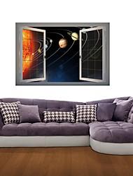 Adesivos de parede adesivos de parede 3d, parede universo planeta decoração adesivos de vinil