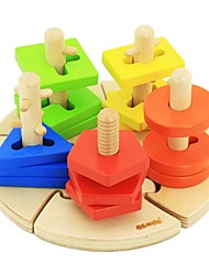 Недорогие -benho березы мудрость пластина деревянная игрушка образование 18м +