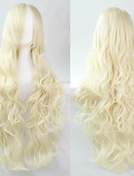 cheap -The new European and American high-temperature  Wire  Cream Long Hair Wig80CM