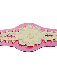 cheap -Lace Sugarpaste Moulds And Flower Silicone Cake Mold