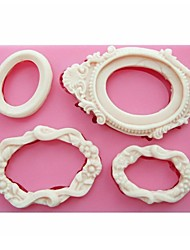 cheap -Mirror Frames Shaped Fondant Silicone Mold Soap Candle Moulds Sugar Craft Cake Decorating Tools SM-249