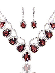 cheap -Women's Rhinestone / Pearl Jewelry Set - Others Silver, Royal Blue, Burgundy