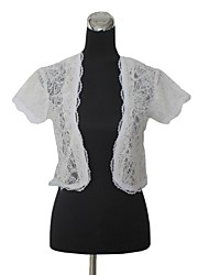 cheap -Short Sleeves Lace Wedding Party Evening Wedding  Wraps With Lace Coats / Jackets
