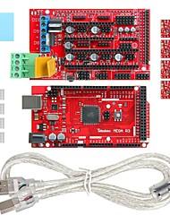 geeetech mega stampante 3d 2560 + 1,4 rampa estendere scudo + stepper a4988 set di driver