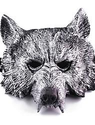 Недорогие -Маски на Хэллоуин Маскарадные маски Голова волка Ужасы пластик 1 pcs Куски Взрослые Мальчики Девочки Игрушки Подарок
