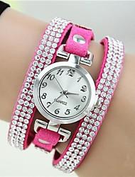 ieftine -Pentru femei Ceas de Mână Ceas Brățară Ceas La Modă Quartz imitație de diamant Piele Bandă Charm Rose