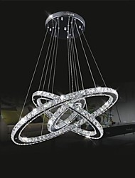 cheap -Circular Chandelier Ambient Light - Crystal, LED, 110-120V / 220-240V, Cold White, LED Light Source Included / 15-20㎡ / LED Integrated